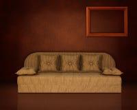 Interiore con il sofà Fotografie Stock Libere da Diritti
