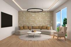 Interiore con il sofà illustrazione 3D royalty illustrazione gratis