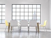 Interiore con la tabella e le presidenze illustrazione di stock