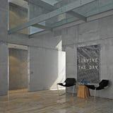 Interiore concreto minimalista Fotografia Stock Libera da Diritti