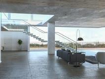 interiore concreto moderno royalty illustrazione gratis