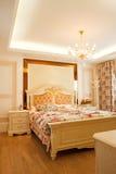 interiore costoso di lusso della camera da letto Immagine Stock