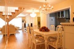 Interiore costoso di lusso della casa Fotografie Stock