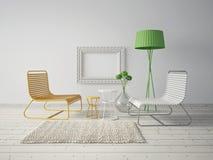 interiore 3D Immagini Stock Libere da Diritti
