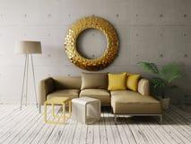 interiore 3D Fotografia Stock Libera da Diritti