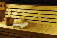 Interiore del bagno di sauna Immagini Stock