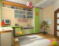 Interiore del bambino Fotografia Stock