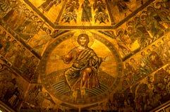 Interiore del Baptistry, Firenze, Italia Immagine Stock