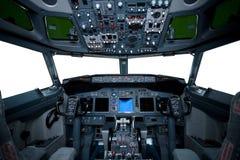 Interiore del Boeing, vista della cabina di guida Fotografia Stock Libera da Diritti