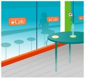 Interiore del caffè illustrazione vettoriale
