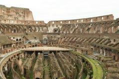 Interiore del Colosseum a Roma, Italia Fotografia Stock