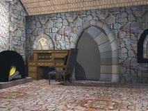 Interiore del cottage Immagini Stock Libere da Diritti