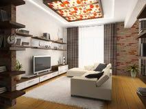 Interiore del drawing-room Fotografia Stock Libera da Diritti