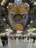 Interiore del Hagia Sophia a Costantinopoli Immagine Stock Libera da Diritti