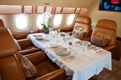 Interiore del jet di affari immagini stock
