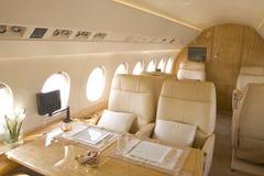 Interiore del jet di affari Fotografie Stock
