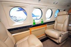 Interiore del jet di affari a Singapore Airshow 2010 Immagini Stock