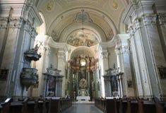 Interiore del monastero di Radna Fotografia Stock