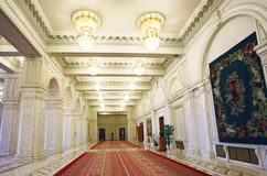 Interiore del palazzo del Parlamento della Romania Immagine Stock