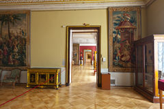 Interiore del palazzo di inverno Fotografia Stock