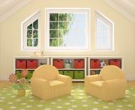 Interiore del playroom. Immagini Stock Libere da Diritti