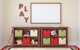 Interiore del playroom 3d rendono Fotografie Stock Libere da Diritti