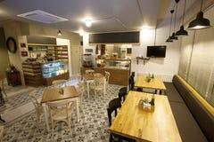 Interiore del ristorante Immagini Stock