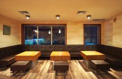 Interiore del ristorante Fotografia Stock Libera da Diritti