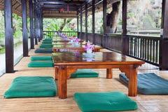 Interiore del ristorante di stile dell'Asia Fotografie Stock Libere da Diritti