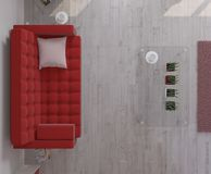 Interiore del salone Fotografia Stock