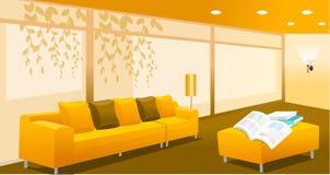 Interiore del salone illustrazione di stock