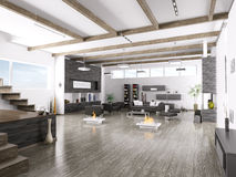 Interiore del salone moderno Fotografia Stock Libera da Diritti