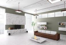 Interiore del salone moderno Immagini Stock Libere da Diritti