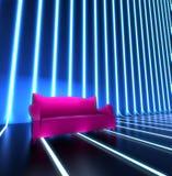 Interiore del sofà di randello Fotografie Stock