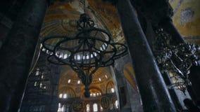 Interiore del sophia di hagia La Turchia, Costantinopoli stock footage
