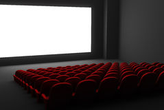 Interiore del teatro di film Fotografia Stock