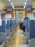 Interiore del treno ad alta velocità immagine stock libera da diritti