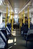 Interiore del treno della città Fotografie Stock Libere da Diritti