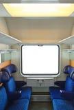 Interiore del treno e della finestra in bianco Immagini Stock