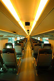 Interiore del treno in Finlandia Immagini Stock