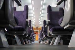 Interiore del treno passeggeri Fotografie Stock