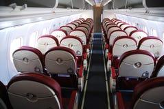 Interiore dell'aeroplano fotografie stock