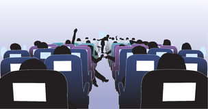 Interiore dell'aeroplano Fotografia Stock Libera da Diritti