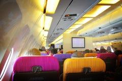 Interiore dell'aeroplano Immagine Stock