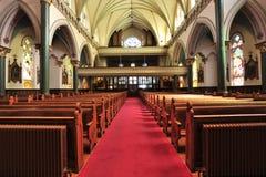 Interiore dell'alloggiamento della chiesa Fotografia Stock Libera da Diritti