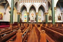 Interiore dell'alloggiamento della chiesa Fotografie Stock Libere da Diritti