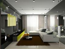 Interiore dell'appartamento alla moda illustrazione di stock
