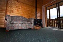 Interiore dell'appartamento della casetta del ghiacciaio di Fox - Nuova Zelanda Fotografie Stock