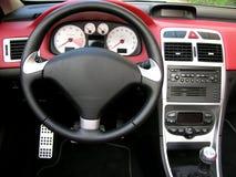 Interiore dell'automobile fotografie stock