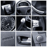 Interiore dell'automobile - collage Immagine Stock